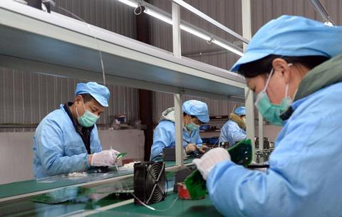 安徽肥東:扶貧車間復工忙