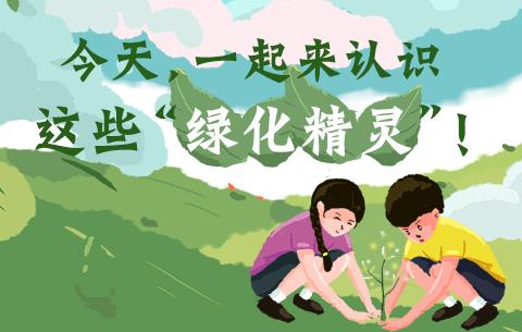 """今天,一起來認識這些(xie)""""綠化(hua)精靈""""!"""