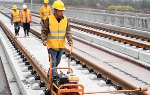 合安高鐵正線鋪軌完成