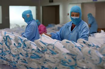 合肥:防疫物資生産忙