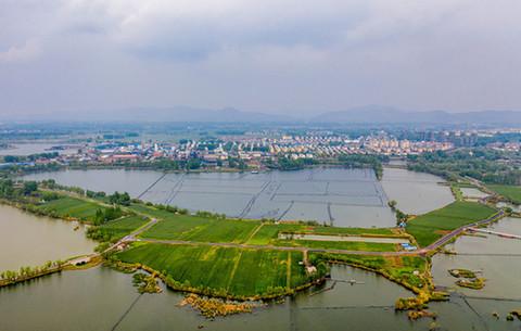 航拍︰昔日(ri)塌陷(xian)地 生態新景觀