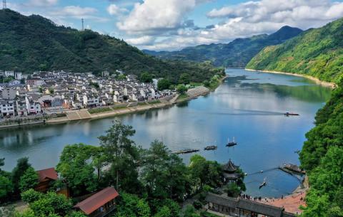 航拍︰山水畫廊新安江