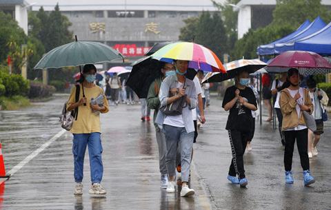 洪水退去 安徽歙縣高考恢復舉行