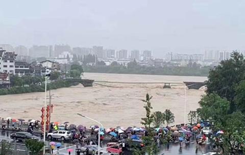 """最新消息!被洪水衝毀的黃山""""國保""""級古橋將修復"""