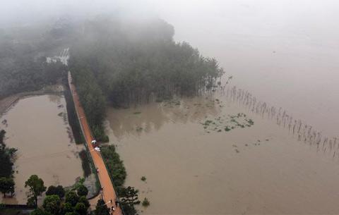 安徽東至:築牢防汛安全堤