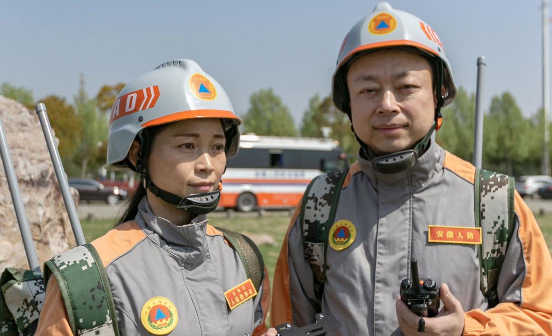 4月15日,安徽省人防辦信保中心開展訓練。