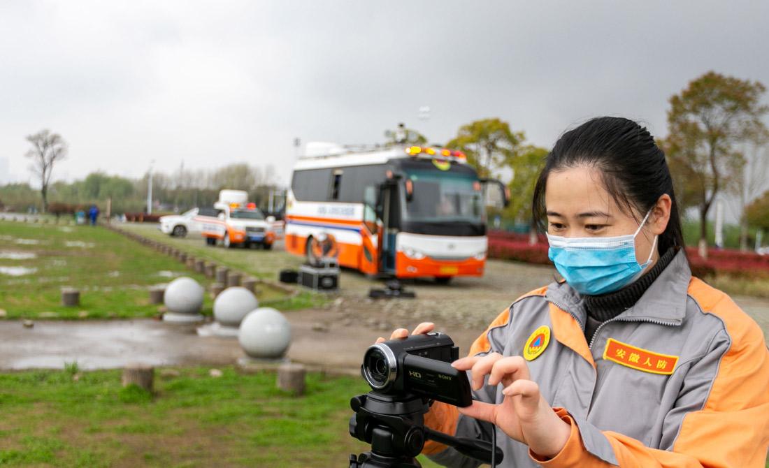4日1日,安徽省人防辦信保中心訓練。