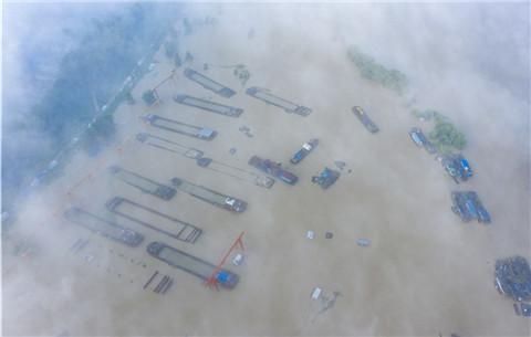 航拍:淮河正陽關 洪水超警戒