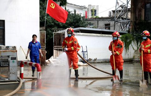 全椒:洪水消退,黨群齊心恢復家園