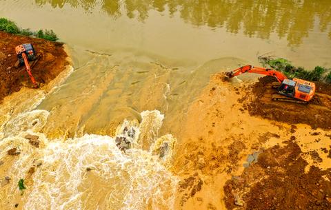 航拍:萬畝大圩為巢湖分洪