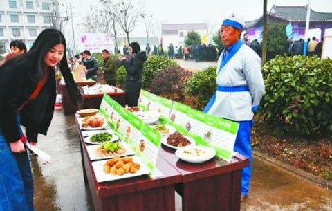 """安徽肥東:""""包公家宴""""吃出文明鄉風"""
