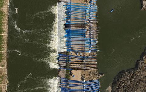 安徽:十八聯圩生態濕地蓄洪區開機排澇