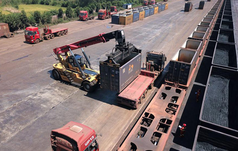 安徽霍邱:鐵路貨場助力地方經濟發展