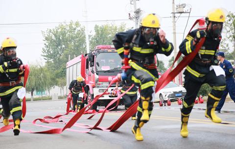 """消防""""火焰藍"""" 業務大比拼"""