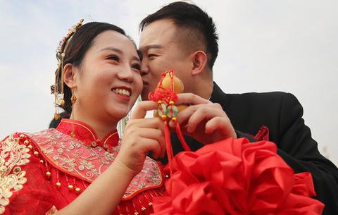 安徽淮北:職工集體婚禮 見證幸福愛情