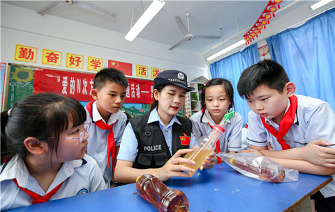 安徽銅陵:禁毒宣傳進校園