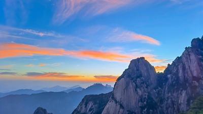 安徽黃山:朝暮相依 秋色溫柔