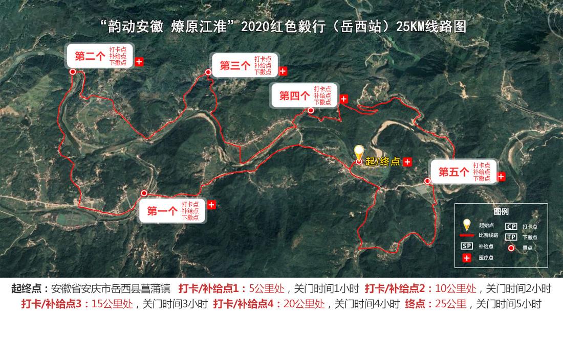 毅行全程(25KM)路线设置