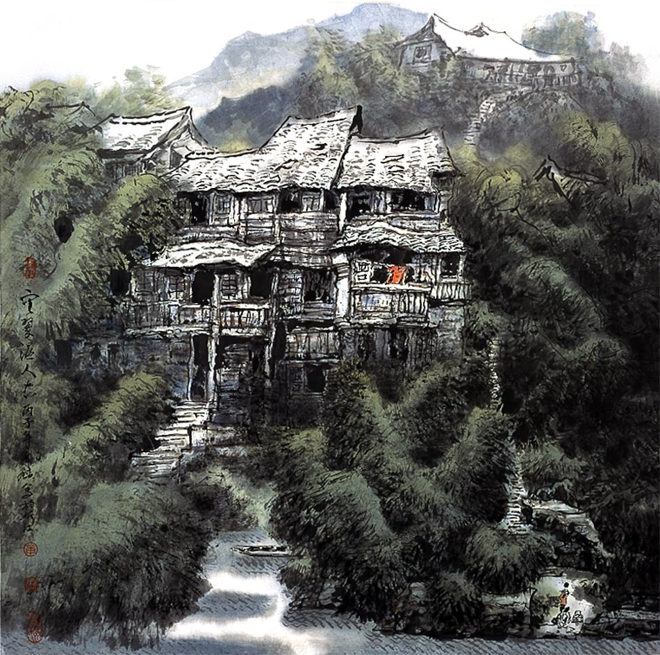 全国中学生风景绘画作品